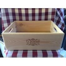 Cassetta in legno per confezione regalo
