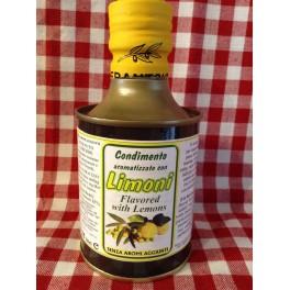Condimento aromatizzato con limoni in bottiglia di metallo 0,25 L.