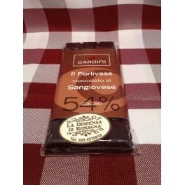 Il Forlivese, tavoletta di cioccolata al Sangiovese 100 g.