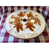 "Piada calda in ceramica ""Crescentini"" decoro ruggine"