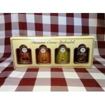Creme spalmabili 4 gusti (cacao-nocciola-pistacchio-caffè) da 150 g. in scatola regalo Babbi