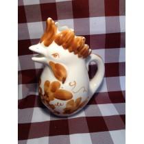 """Caraffa """"Gallo"""" in ceramica """"Crescentini"""" decoro ruggine 1/2 L."""
