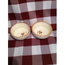 """Coppetta singola pinzimonio 8 cm. in ceramica """"Crescentini"""" decoro ruggine"""